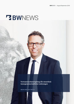 BW NEWS Nov.-Dez. 2018